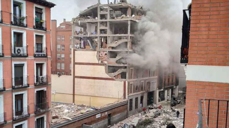Explosión en Madrid: el estallido arrasó con tres plantas del edificio