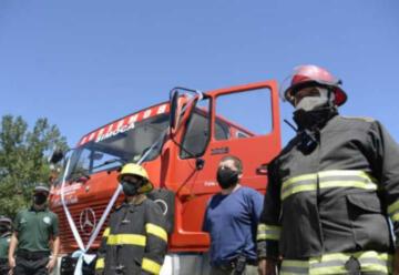 Bomberos de Simoca con nueva autobomba