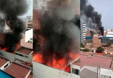 San Miguel: Bomberos controlan incendio en inmueble