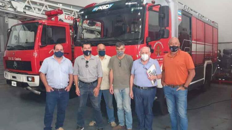 Reunión entre Bomberos de Lomas de Zamora y la Empresa ARD