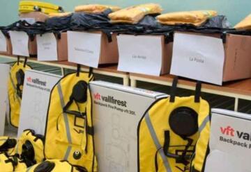 Bomberos del norte provincial recibieron nuevo equipamiento