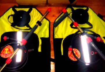 Bomberos adquirió nuevo equipamiento para combatir incendios forestales