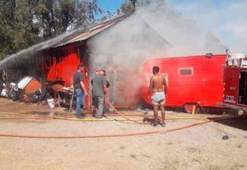 Incendio destruye cuartel de Bomberos Voluntarios