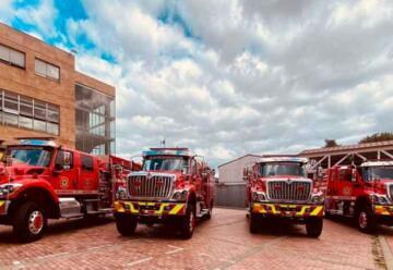 Cuerpo de Bomberos de Bogotá estrena cuatro máquinas