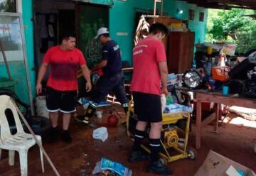 Temporal dejó cuantiosos daños en cuartel de bomberos