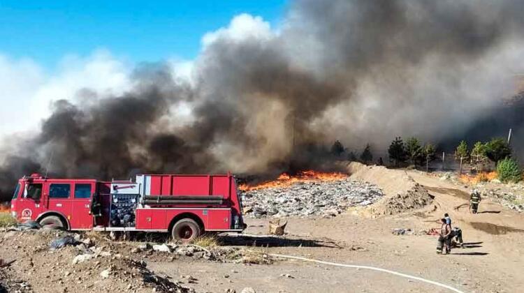 Incendio en la Planta de Tratamiento de Residuos de Esquel