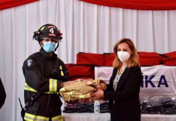Turquía entregó valiosa donación a Bomberos de Quilicura