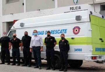 Bomberos de Dolores presentaron su nueva unidad de rescate