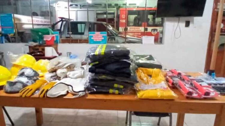 Bomberos Voluntarios de Castex adquirieron nuevos equipamientos