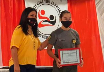 Reconocieron a la primera mujer bombero de Gral. San Martín