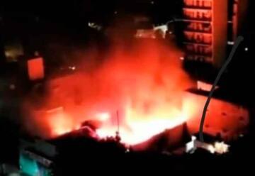 Incendio en un Supermercado de Villa Urquiza