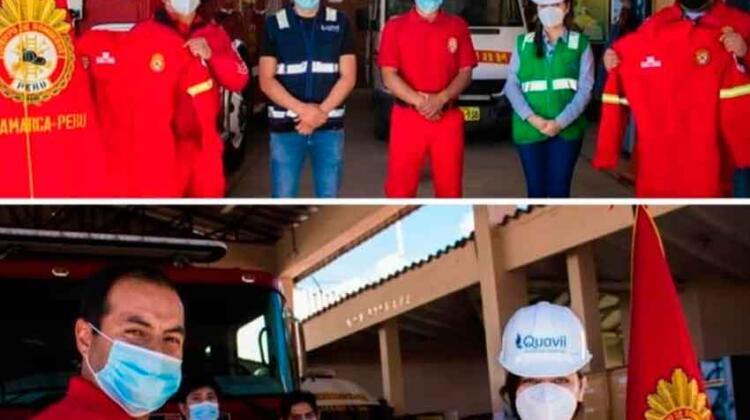 Bomberos Voluntarios de Cajamarca reciben equipos de protección
