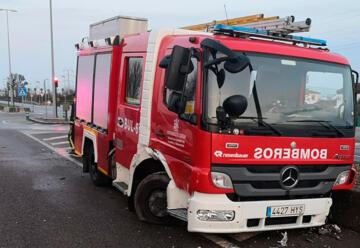 Accidente de un vehículo del parque móvil de bomberos