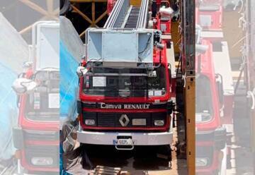 Escalera telescópica para bomberos de Loreto