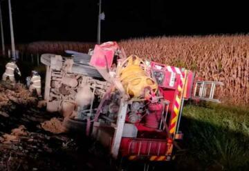 Retiro: Choque entre camión y carro de Bomberos