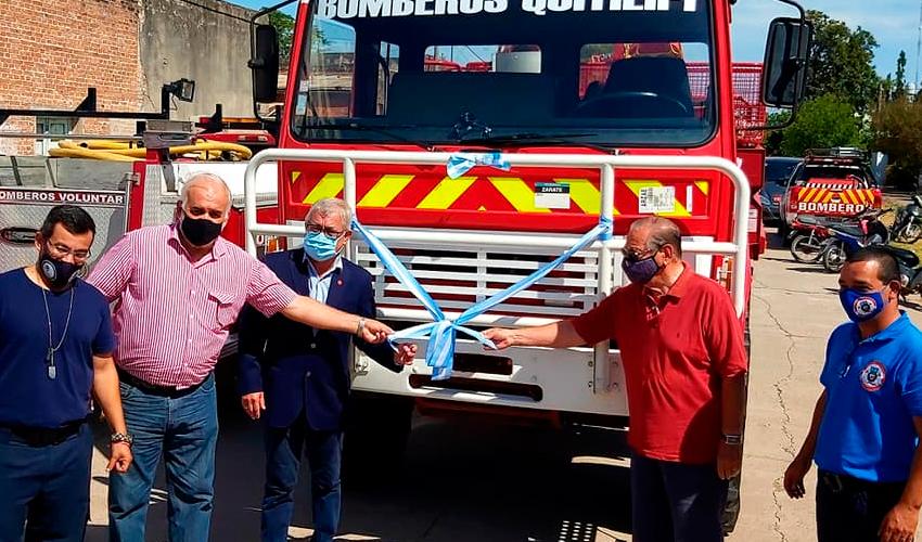 Bomberos Voluntarios de Quitilipi con nueva unidad