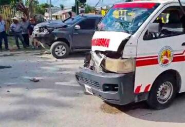Bomberos se accidentan cuando se dirigían a cubrir una emergencia