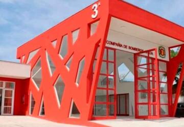 Inauguran nuevo cuartel de Bomberos en Santa Cruz