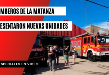 Bomberos de La Matanza presentaron nuevas unidades