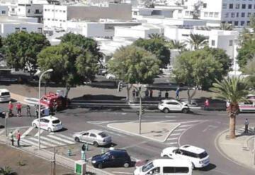 Un vehículo de los bomberos sufre un accidente de tráfico