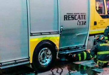 Camioneta colisionó carro de Bomberos cuando se dirigía a emergencia