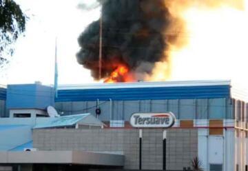 Controlaron el incendio en la fábrica Tersuave