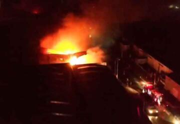 Incendio en la fábrica Australtex de Río Grande