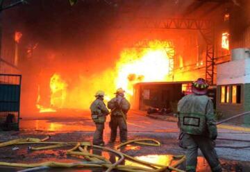 Incendio en una papelera de Don Torcuato