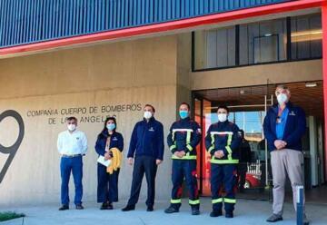 Nuevo cuartel de la Novena Compañía de Bomberos de Los Ángeles