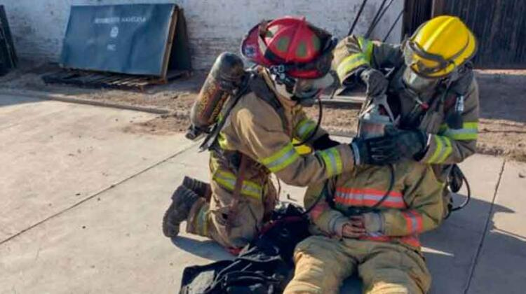 Bomberos de Navojoa reciben capacitación en rescate