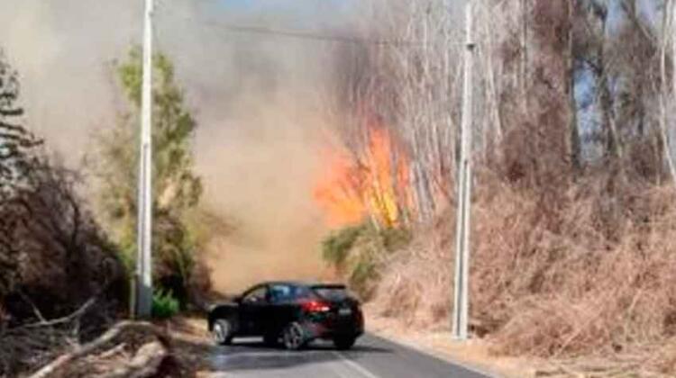 Bomberos resultó lesionado en combate de incendio forestal