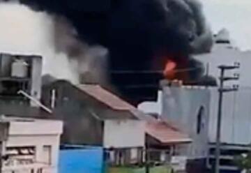 Incendio en una pinturería de Vicente López