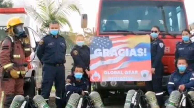 Bomberos de La Ceja recibieron donación de Estados Unidos