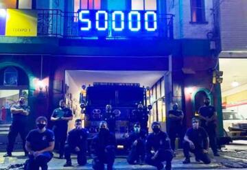 Los Bomberos de La Boca cumplieron 50 mil días de servicio