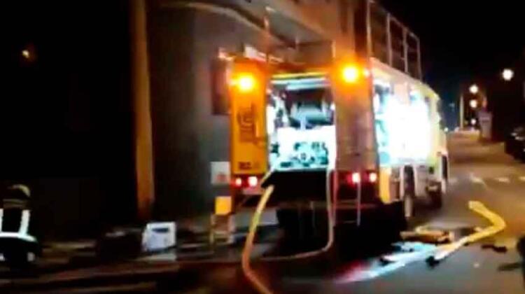 Dos bomberos herido en un incendio en Gran Canaria