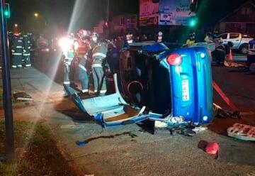 Carro de Bomberos protagonizó violento accidente