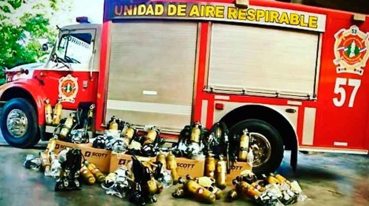 Bomberos de Moreno incorporo un importante lote de equipamiento