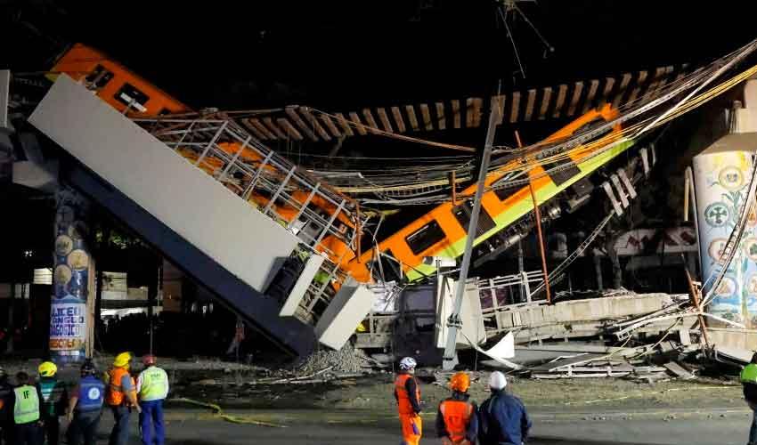 Derrumbe de un tramo del metro de Ciudad de México