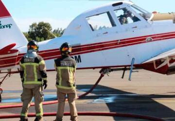 Bomberos termina abastecimiento de aeronaves para combatir incendios forestales