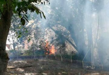 Trasladan a tres bomberos de Aranda al hospital