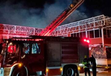 Incendio amenazó con propagarse a terminal de buses