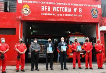 Cinco compañías de bomberos cuentan con servicio de gas natural