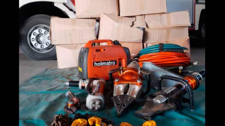 Nuevo equipamiento para Bomberos de Villa Elisa