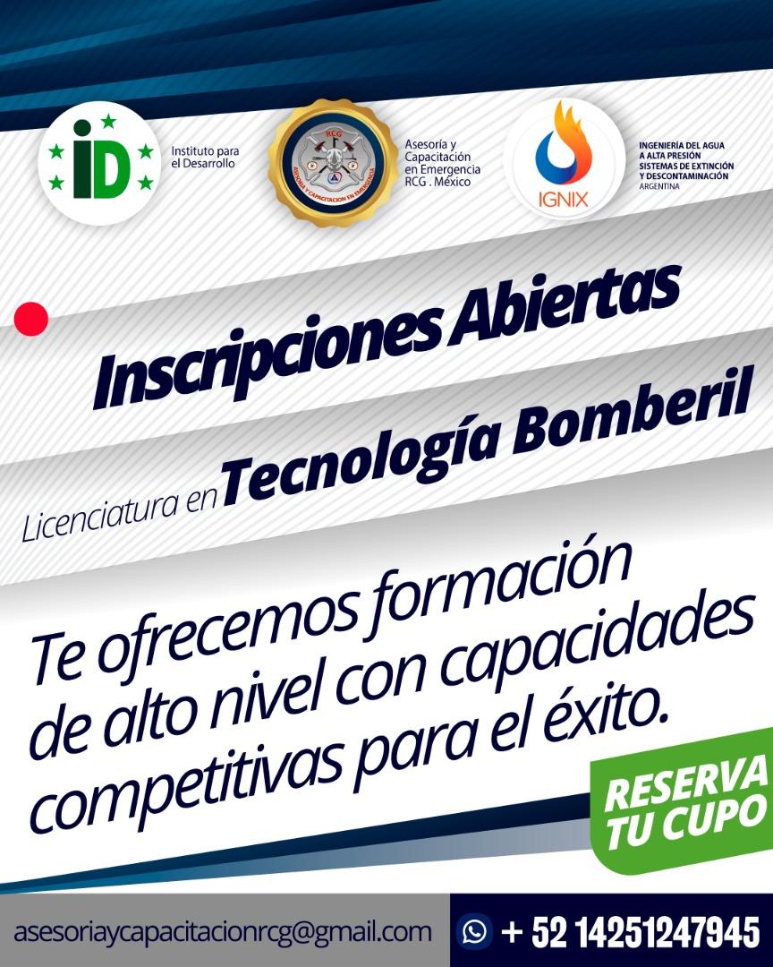 1ra. Promoción de licenciados en tecnología bomberil