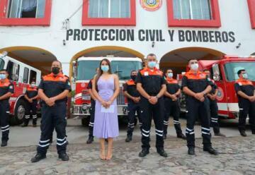 Fortalecen con más equipamiento Protección Civil y Bomberos
