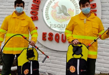 Bomberos Voluntarios de Esquel recibió equipamiento