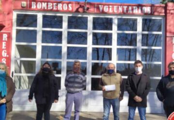 Bomberos Voluntarios de Bigand recibieron un subsidio