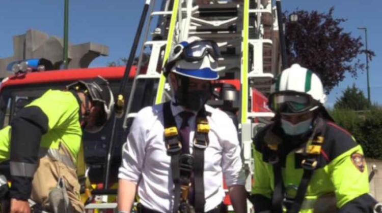 Los bomberos de Burgos estrenan un nuevo camión