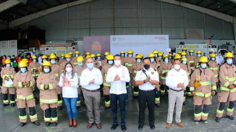 Conmemoran el Día del Bombero en Chiapas