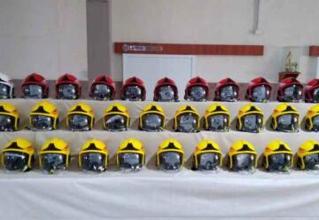 Bomberos de Córdoba adquirieron cascos Gallet para todo el personal